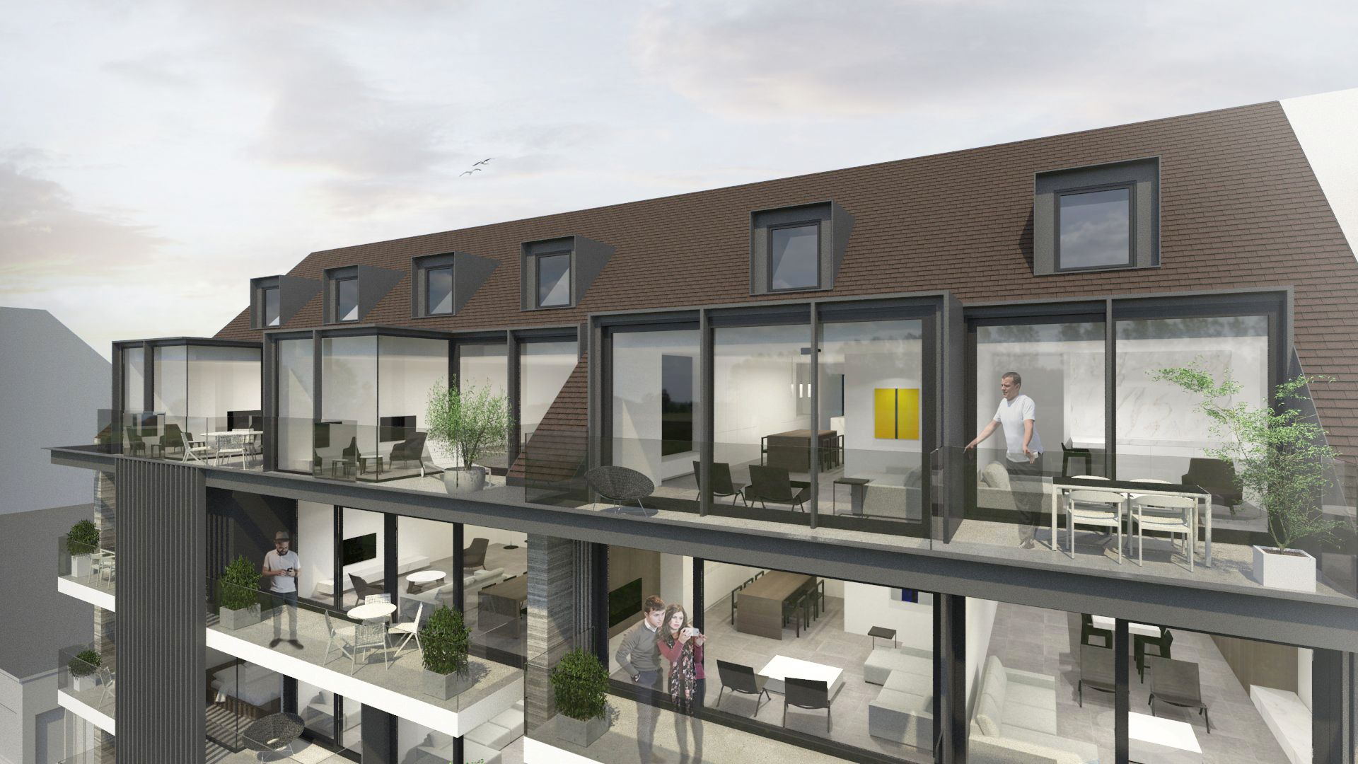 Duplex-appartement met 2 slaapkamers - 8682