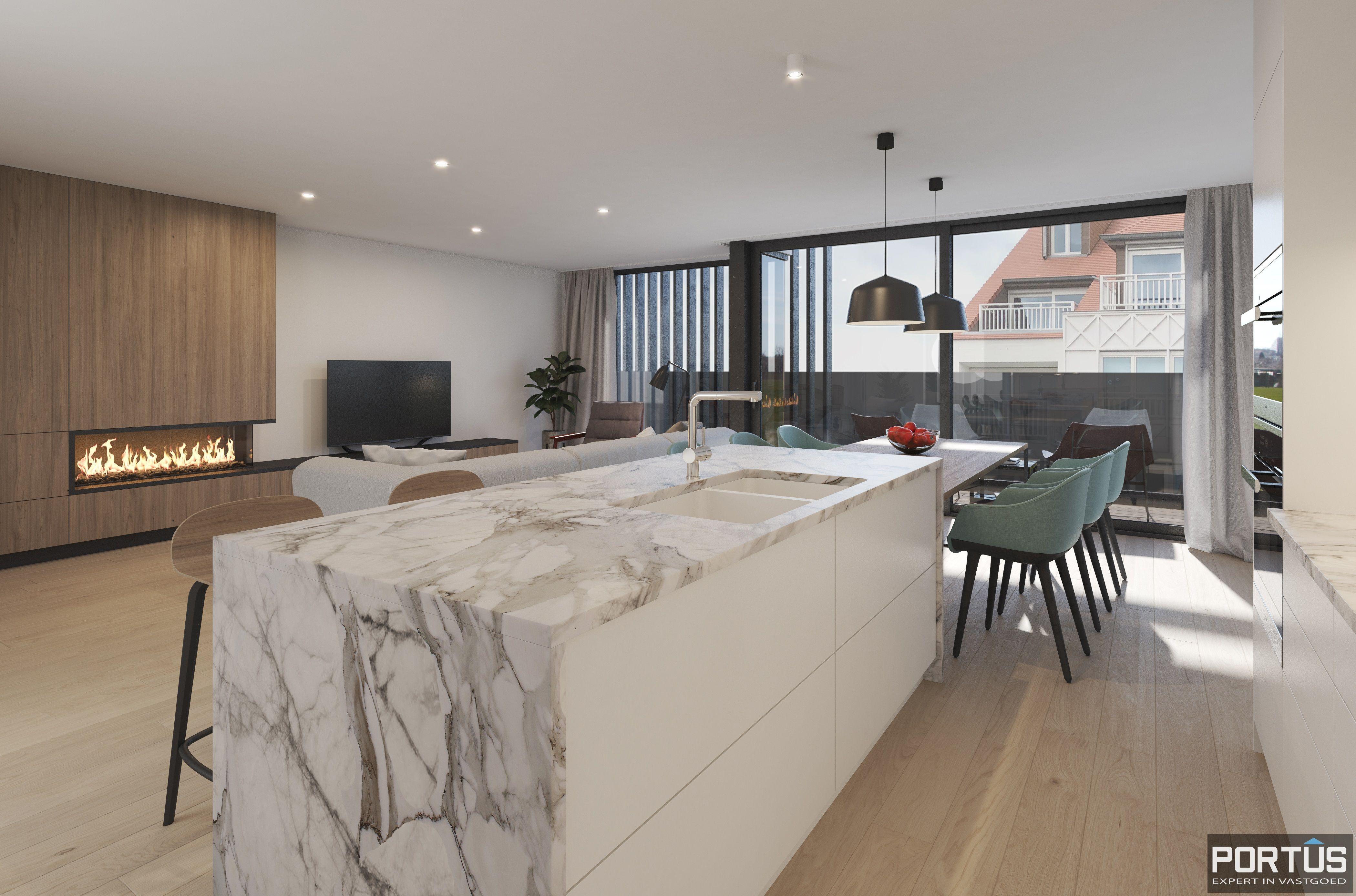 Duplex-appartement met 2 slaapkamers - 9032