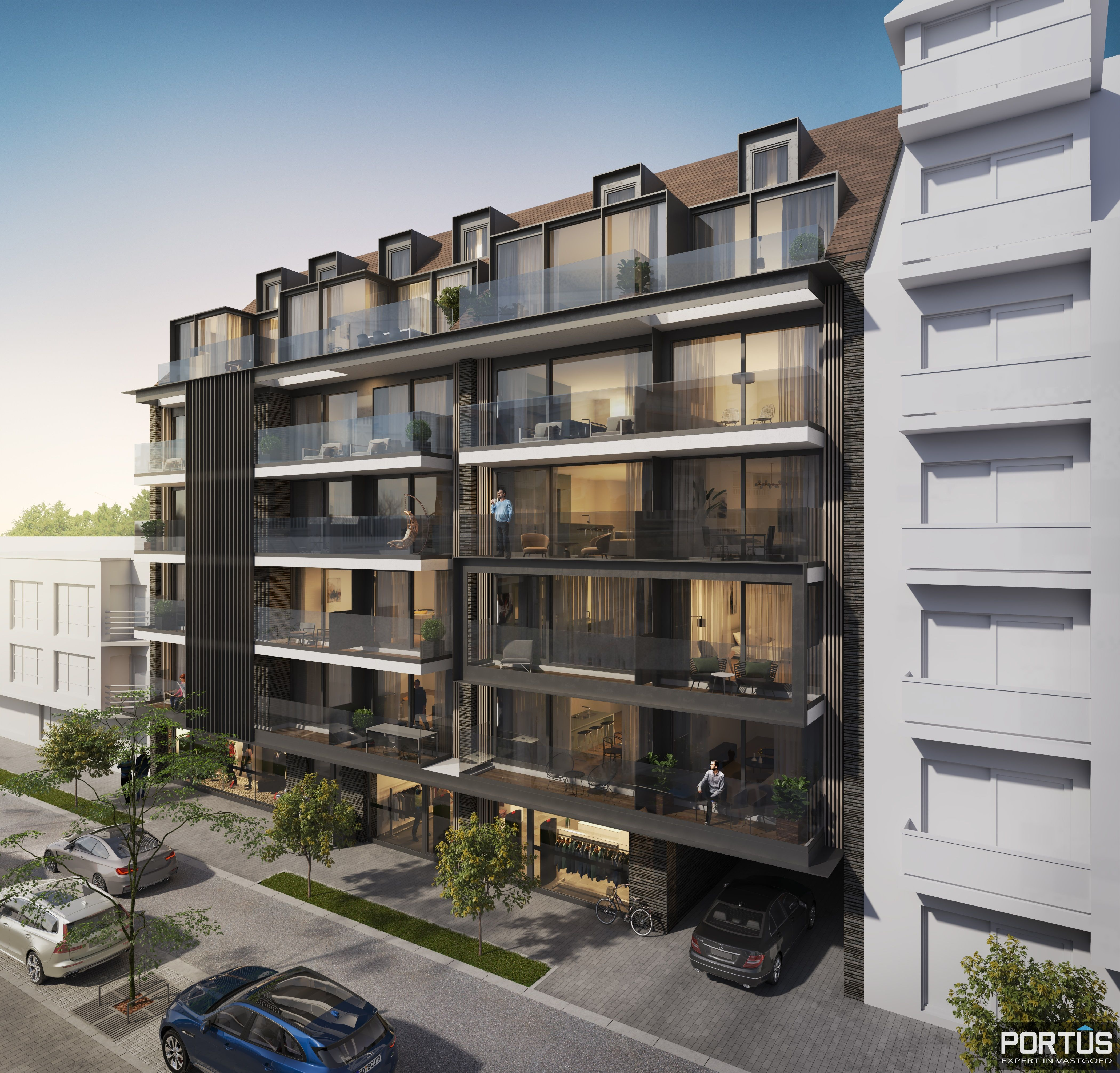 Duplex-appartement met 2 slaapkamers - 9034