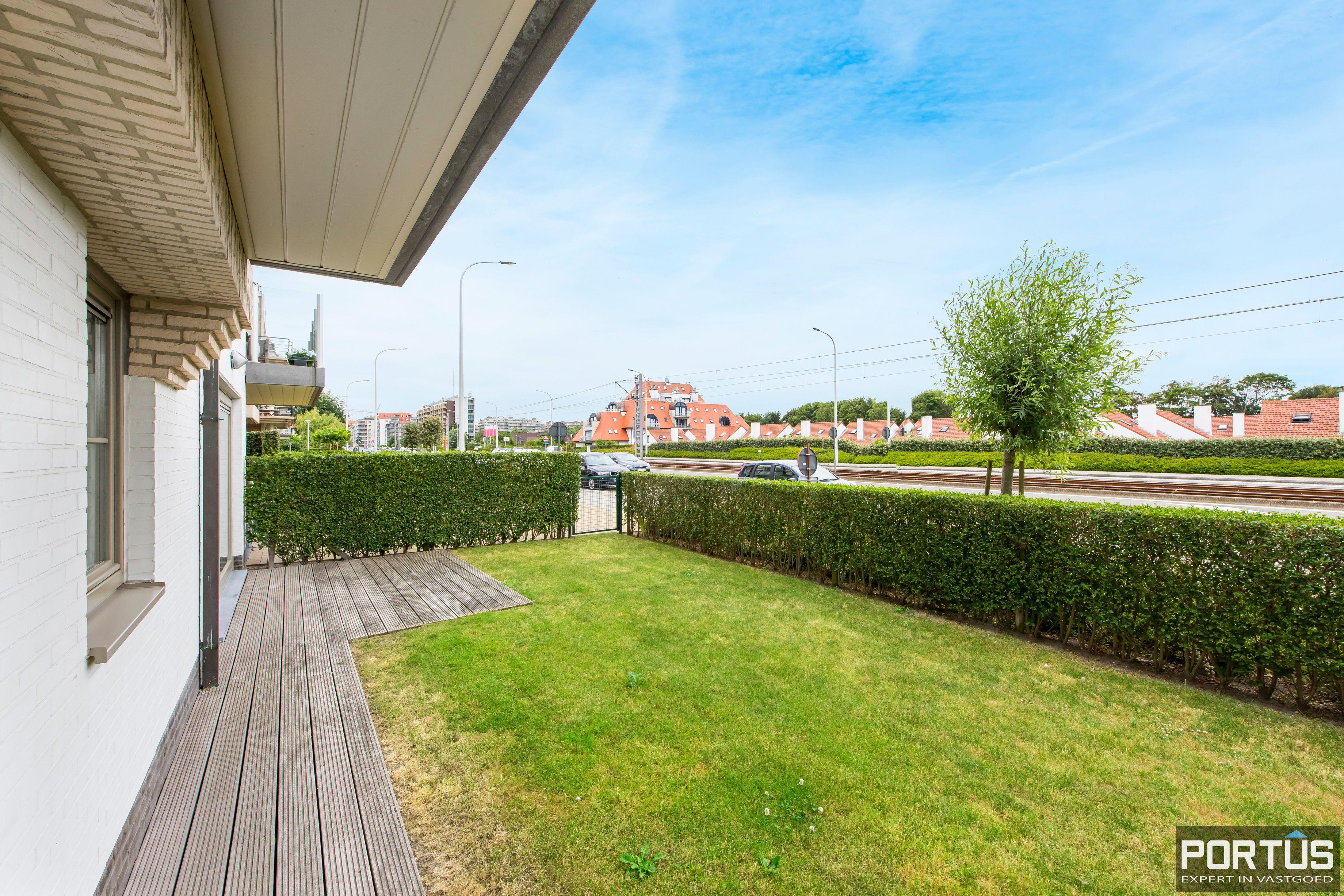 Gelijkvloers appartement te koop met 2 slaapkamers en privé tuin