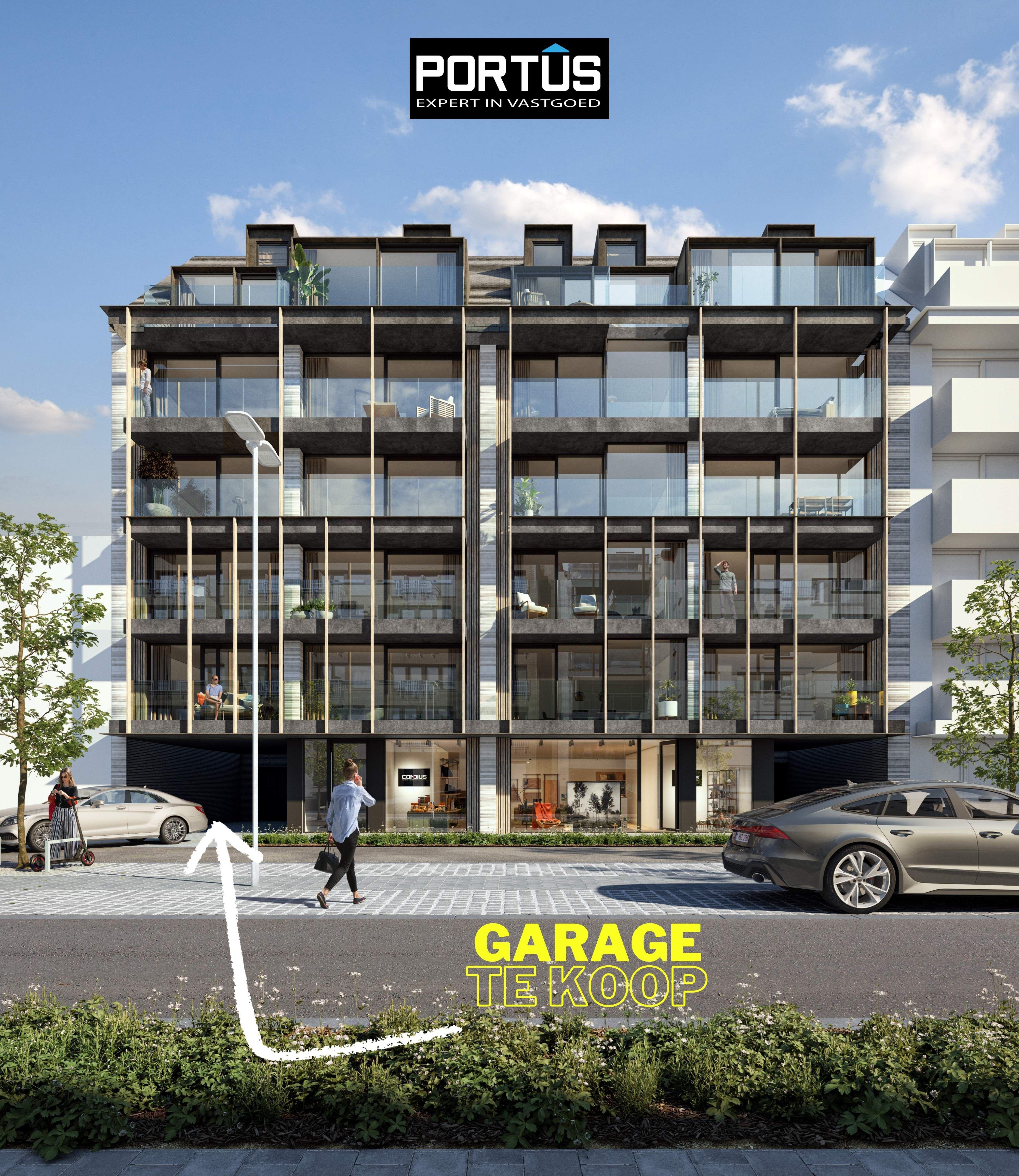 Gesloten garagebox te koop in Residentie Lectus IX te Nieuwpoort-Bad