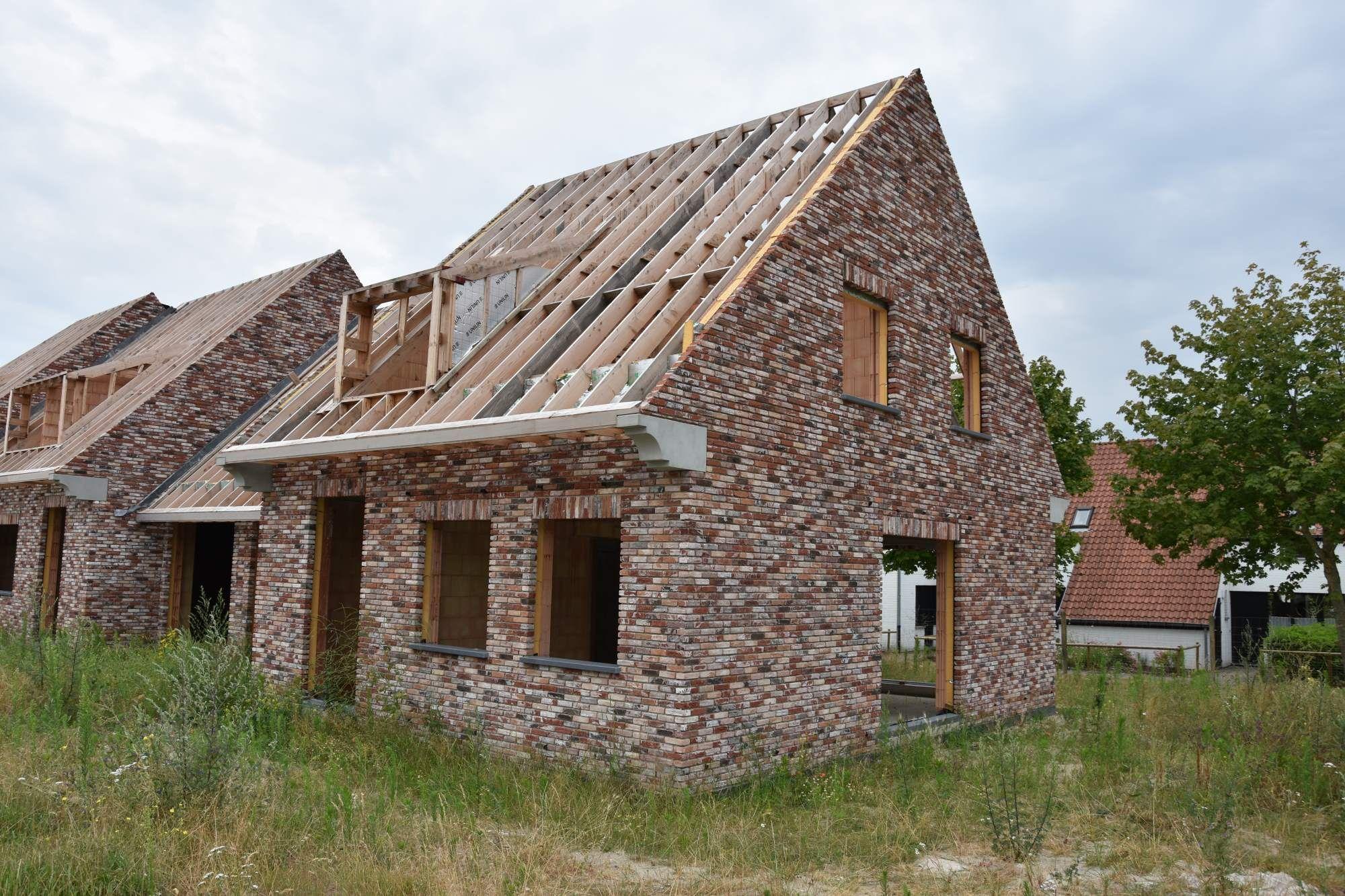 Nieuwbouwvilla's in de Simli wijk van Nieuwpoort