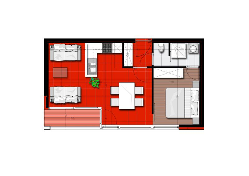 Zongericht appartement met terras Nieuwpoort - 197