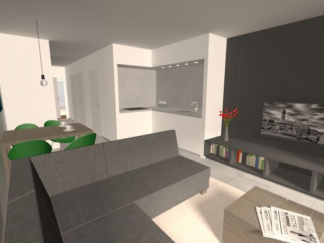 Nieuwbouwappartement met 1 slaapkamer te huur - 10547