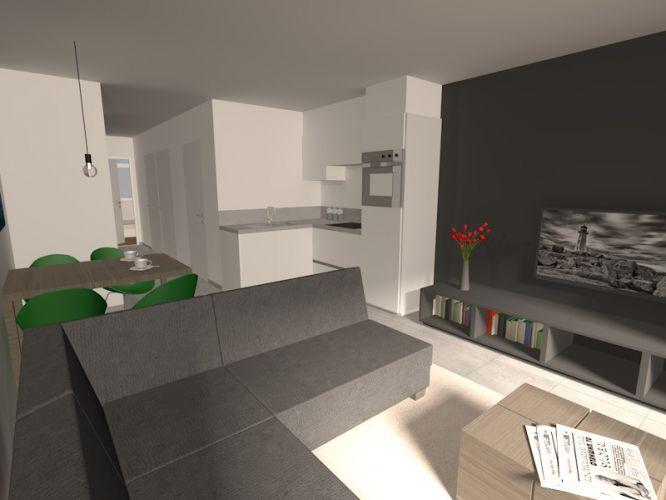 Nieuwbouwappartement met 1 slaapkamer te huur 10548
