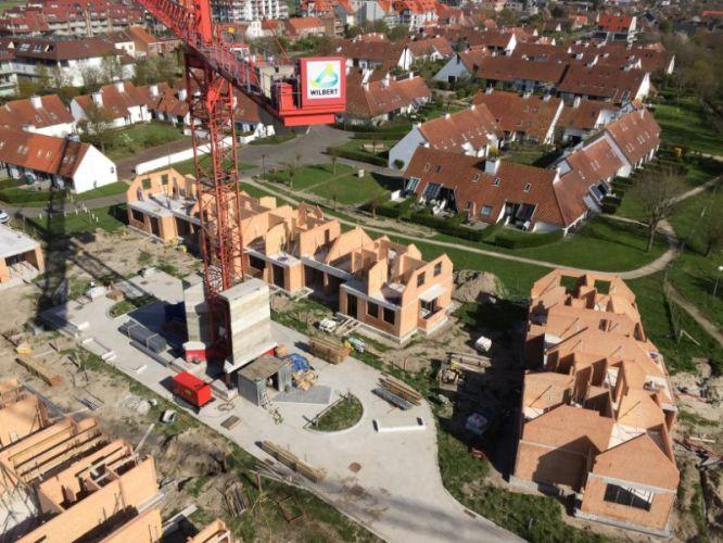 Nieuwbouwvilla's in de Simli wijk van Nieuwpoort 1439