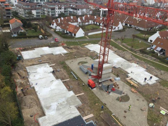 Nieuwbouwvilla's in de Simli wijk van Nieuwpoort 1447