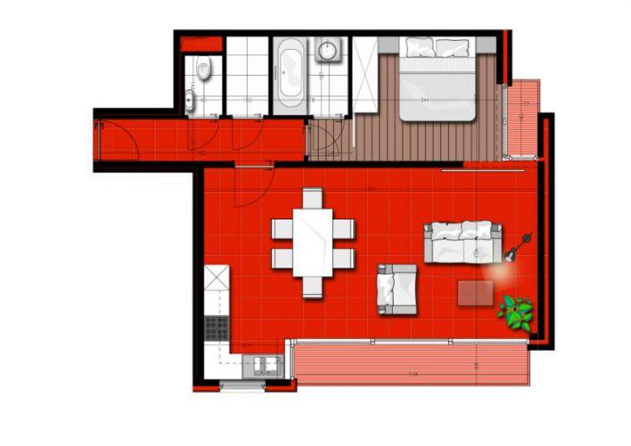 Zongericht appartement met terras Nieuwpoort 189