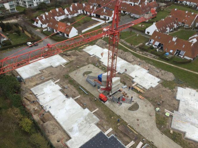 Nieuwbouwvilla's in de Simli wijk van Nieuwpoort 5087