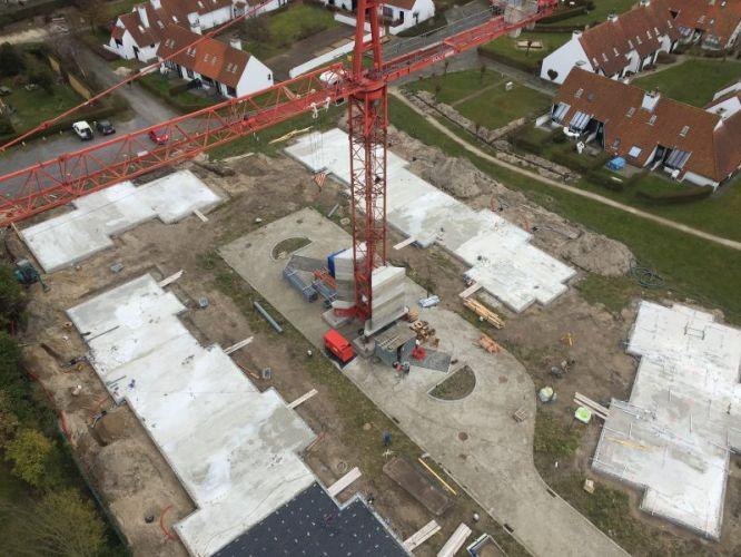 Nieuwbouwvilla's in de Simli wijk van Nieuwpoort 5092
