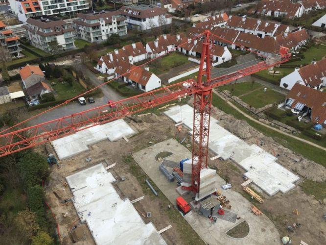 Nieuwbouwvilla's in de Simli wijk van Nieuwpoort 5097