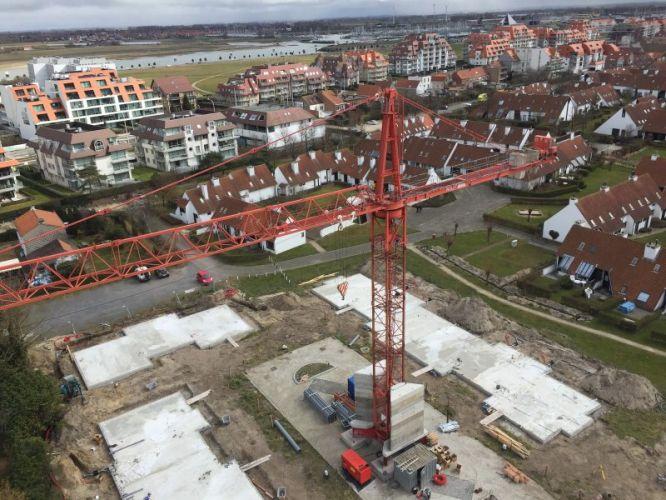 Nieuwbouwvilla's in de Simli wijk van Nieuwpoort 5107