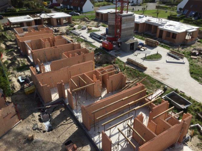 Nieuwbouwvilla's in de Simli wijk van Nieuwpoort 5112