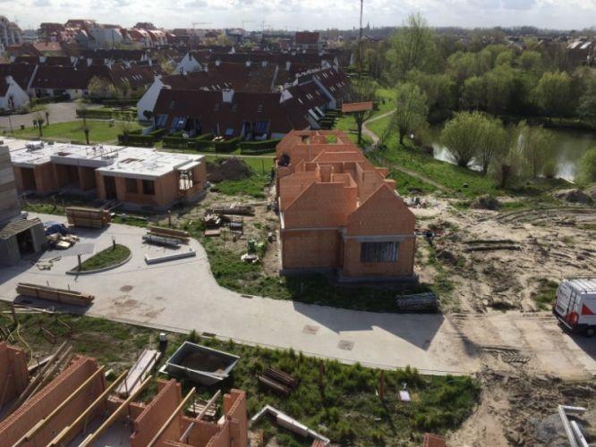 Nieuwbouwvilla's in de Simli wijk van Nieuwpoort 5117