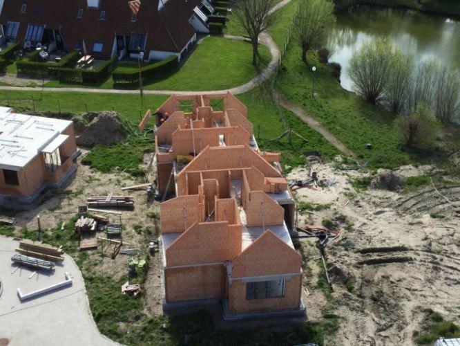 Nieuwbouwvilla's in de Simli wijk van Nieuwpoort 5122