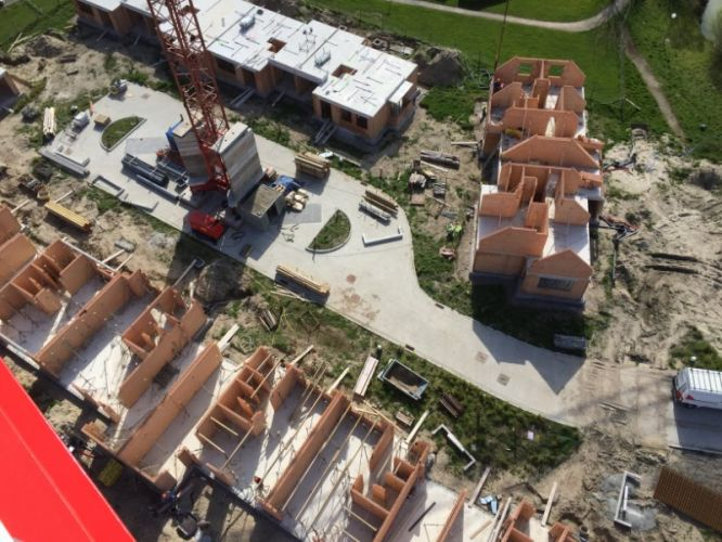 Nieuwbouwvilla's in de Simli wijk van Nieuwpoort 5127