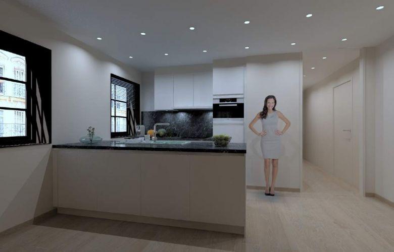 Appartement met 2-slaapkamers te koop Markt Nieuwpoort 9104