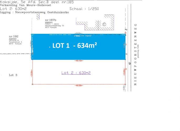 Perceel bouwgrond te koop Oostduinkerke - 7117