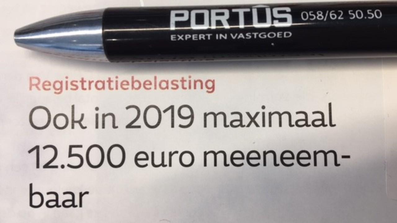 Registratiebelasting - meeneembaarheid - Portus Nieuwpoort