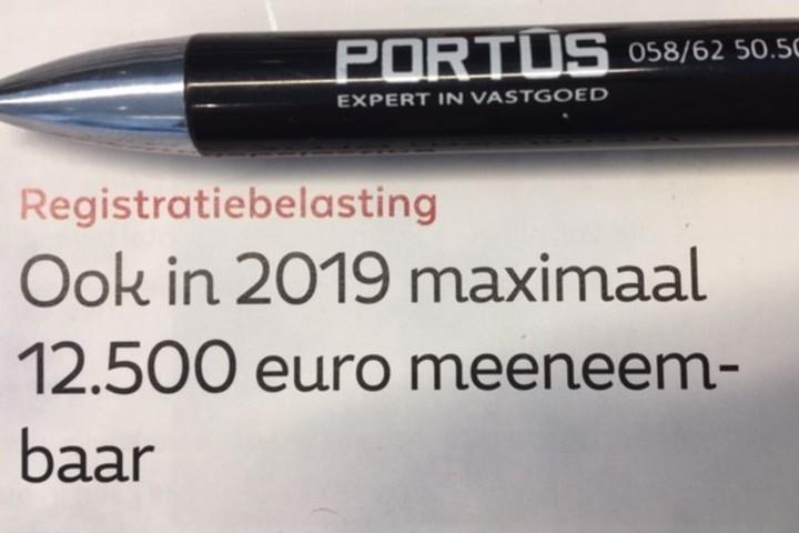 Registratiebelasting - meeneembaarheid
